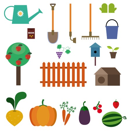 orchard: Orchard and garden.set of elements in vector