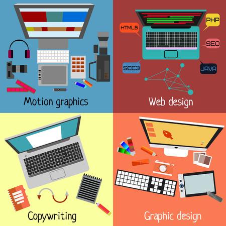 videographer: design.set of different design direction Illustration