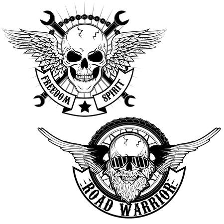 guerrero: El esp�ritu de la libertad y guerrero de la carretera. Vectores