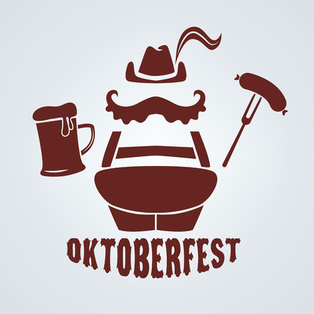 lederhosen: oktoberfest icon in vector