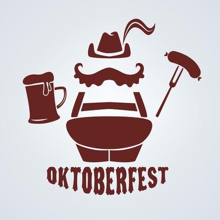 oktoberfest food: oktoberfest icon in vector