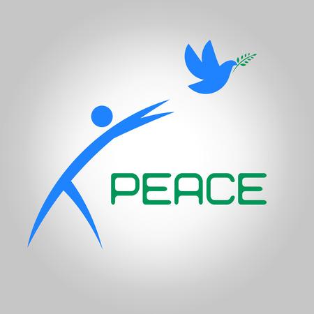 paloma de la paz: paz en el mundo
