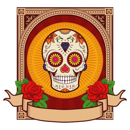 dia de muertos: Dia de los Muertos. Cr�neo del az�car.