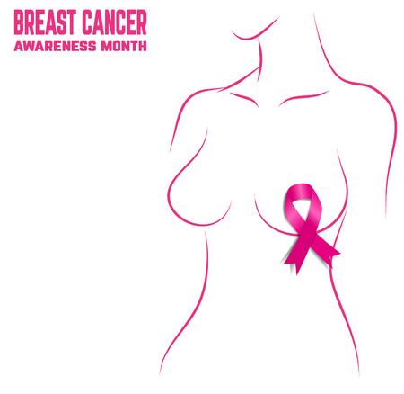 breast cancer awareness: Breast Cancer Awareness Month Banner. Logo for poster.
