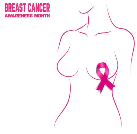 cancer de mama: Breast Cancer Awareness Month Banner. Logo para el cartel.