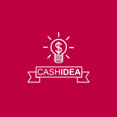 fresh idea: Cash idea  design concept logo vector design template. Vector logo template. Illustration