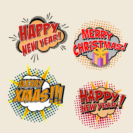 marry christmas: Marry Christmas and New Year greeting cards templates.