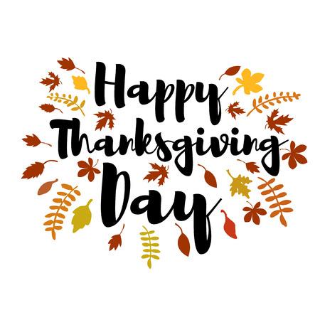 Happy Thanksgiving day. Vector greeting card.  Vector illustration. Illustration