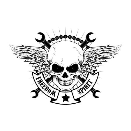 Der Geist der Freiheit. Vektor-Illustration Tattoo Stil