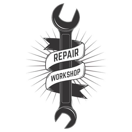 Repaire workshop logo template. Vector illustration. Logo