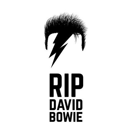 january: RIP David Bowie. 11 de enero de 2016. Ilustraci�n del vector.