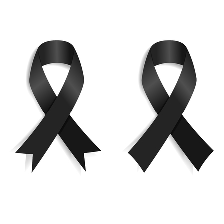 Set of the Black ribbon. Design element. Ilustrace