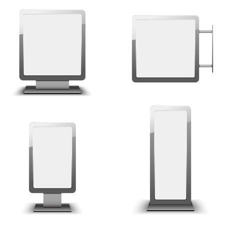 lightbox: Set of different light boxes. Blank panel light boxes. Illustration