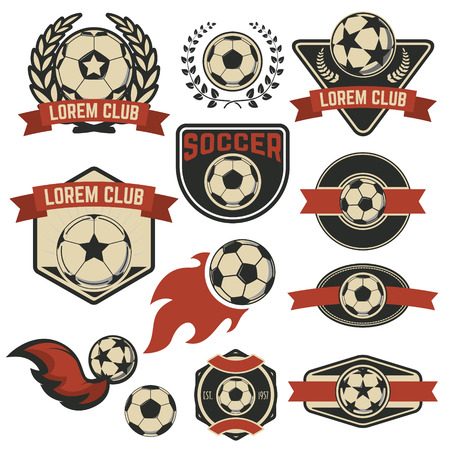 soccer club: Set of the soccer club emblems. Vector design element