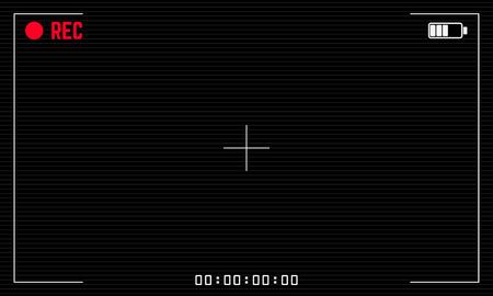 aperture grid: Camera recording screen. Viewfinder digital video camera. Design element for motion design project and films. Illustration