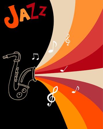 concert band: Jazz festival poster template. Jazz music. Saxophone. International Jazz Day. Vector design element.