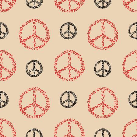 faire l amour: Signe de paix seamless. signe Hippie. Faites l'amour pas la guerre.