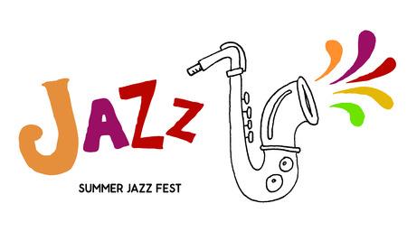 saxof�n: festival de jazz de la plantilla del cartel. Musica Jazz. Saxof�n. D�a Internacional del Jazz. Elemento de dise�o vectorial. Vectores