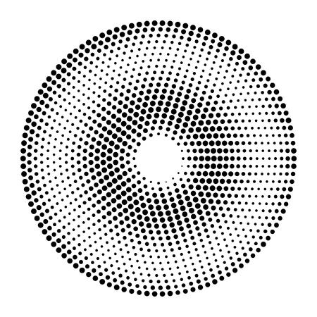 Fond de cercles vecteur abstraite. Fond noir et blanc en pointillé de demi-teintes. Élément de design en vecteur.