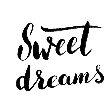 sweet dreams: Sweet dreams. Hand drawn lettering. Design element in vector.