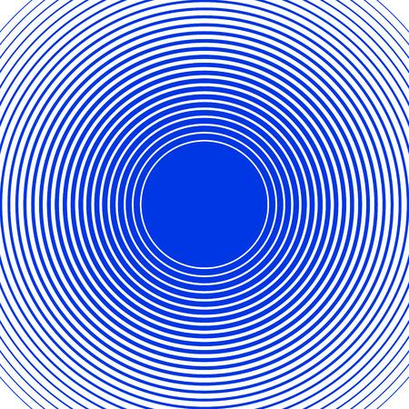 Schallwelle Ringe Hintergrund. Blaue und weiße Ringe. Line-Hintergrund. Design-Element in Vektor.