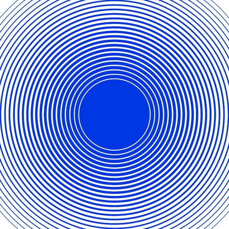 Sound wave rings background. Blue and white rings. Line background. Design element in vector.