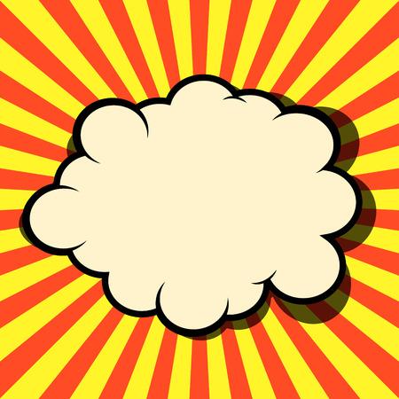 lichtenstein: Comic style vector background. Pop art style explosion. Superhero action. Comic art style phrase background. Design element in vector.
