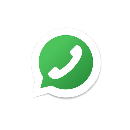 Speech bubble icon with phone tube. Phone icon. Design element in vector.