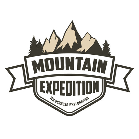 expedition: Mountain expedition label.