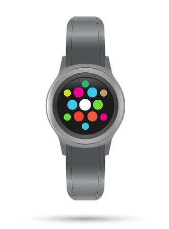 smart: Smart Watches icon. Smart gadget. Vector illustration. Illustration