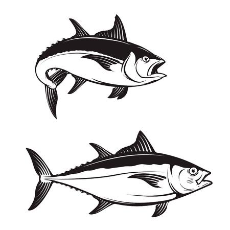 Thunfisch-Symbole. Vektor-Illustration.
