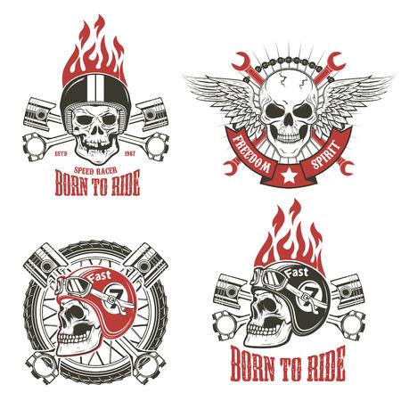 Speed racer. Born to ride. Vector illustration. Ilustrace