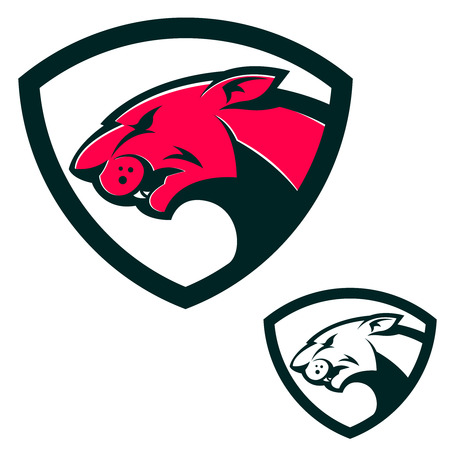 puma: Shield emblem template with puma head. Design elements for logo, label, emblem, sign, brand mark. Vector illustration.