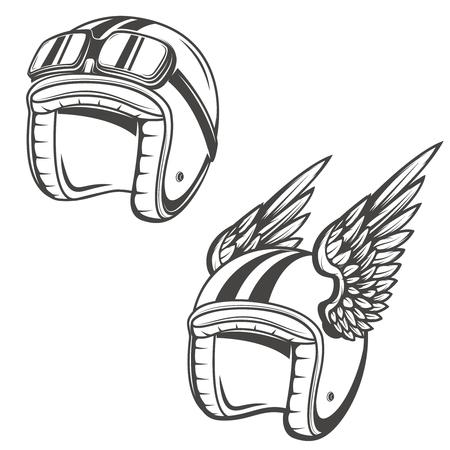 Baker helmet with wings. Design element for  , label, emblem, sign, poster, t-shirt. Vector illustration. Ilustrace
