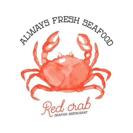 Fresh seafood. Design element for logo, label, emblem, sign. Vec Reklamní fotografie - 84511417