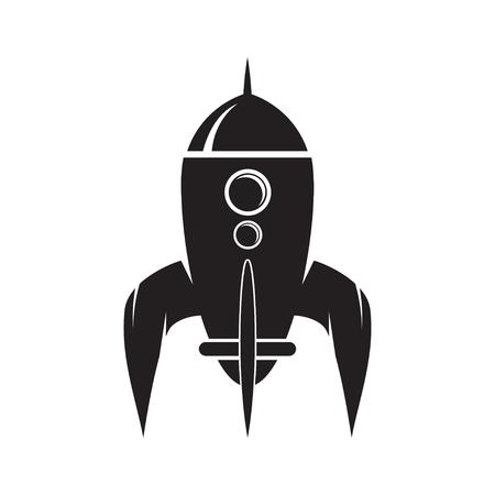 Retro rocket illustration on white background. Design element fo Reklamní fotografie - 84511416