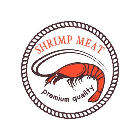 Fresh seafood. Design element for logo, label, emblem, sign. Vec Reklamní fotografie - 84511414