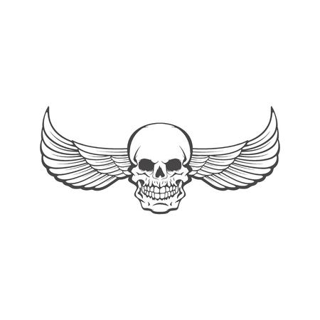Human skull on white background. Design element for logo, label, Reklamní fotografie - 84511418