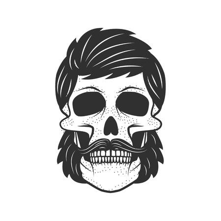 Human skull on white background. Design element for logo, label, Reklamní fotografie - 84511424