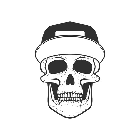 Human skull on white background. Design element for logo, label, Reklamní fotografie - 84511422