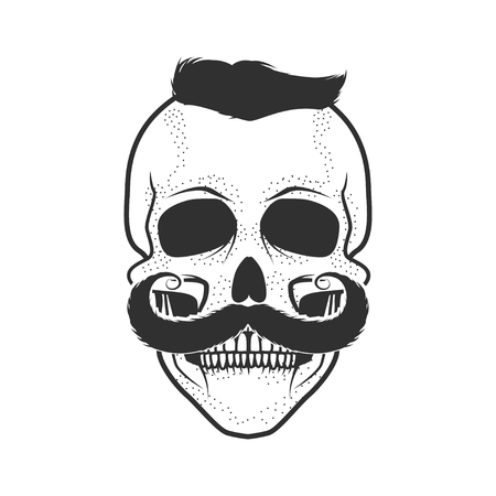 Human skull on white background. Design element for logo, label, Reklamní fotografie - 84511423