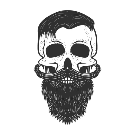 Human skull on white background. Design element for logo, label, Reklamní fotografie - 84511425