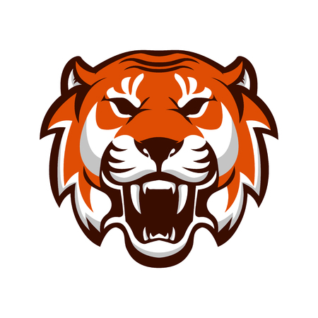 Tiger head. Design element for logo, label, emblem, sign. Vector