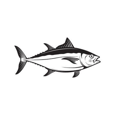 Tuna fish illustration isolated on white background. Design elem Reklamní fotografie - 84511548