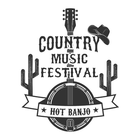 Wild west party emblem template. Design element for logo, label,