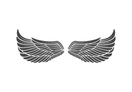 Wings isolated on white background. Design elements for logo, la Reklamní fotografie - 84511572