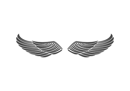 Wings isolated on white background. Design elements for logo, la Reklamní fotografie - 84511571