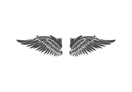 Wings isolated on white background. Design elements for logo, la Reklamní fotografie - 84511601