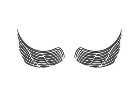 Wings isolated on white background. Design elements for logo, la Reklamní fotografie - 84511604