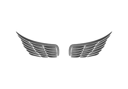 Wings isolated on white background. Design elements for logo, la Reklamní fotografie - 84511605